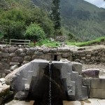 The Bath of the Princess at the base of the ruins at Ollantaytambo.