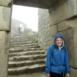 Lea poses in a doorway as we walk through the ancient city.