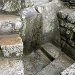Water fountain at Machu Picchu.