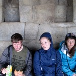 Ammon, Courtney and Maria, before Huayna Picchu.