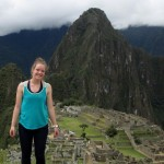 Courtney celebrates her birthday, overlooking the city of Machu Picchu.