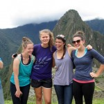 The GC women get silly at Machu Picchu.