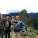 The GC men pose for a formal photo at Machu Picchu.