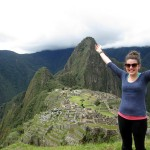 Lea celebrates the arrival of sunshine at Machu Picchu.