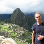 Professor Duane poses late afternoon before leaving Machu Picchu.