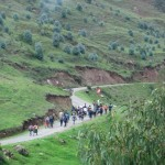 En route back to Cusco, we pass an Andean parade.