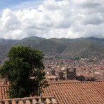 The red tile roofs of Cusco.
