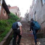 The walk includes a long, steep set of stairs.
