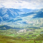 A painting of the Andean countryside surrounding Ayacucho.