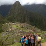 Round two for the traditional group photo at Machu Picchu, later in the day, once the had fog lifted.