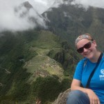 Elizabeth at the top of Huayna Picchu.