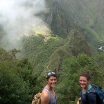 Maria and Lea, on Huayna Picchu.