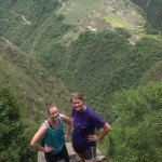 Courtney and Jo on Huayna Picchu.