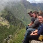 A ledge on which to rest, at the top of Huayna Picchu.