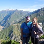 Elizabeth and Courtney at the Colca Canyon.