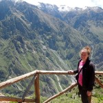 Courtney at the Colca Canyon outside Arequipa.
