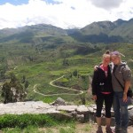 Courtney and Elizabeth at the Colca Canyon.