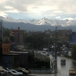 Arequipa is surrounded by snow-capped volancoes.