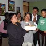 Courtney's host mother, Dolly Gonzales Puma, celebrated her birthday during our visit. Her husband, Juan Carlos, is standing behind her, and beside her is a son, Johaquin, 6. They also have a daughter Valentina, nearly 3.