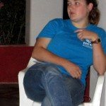 Elizabeth, during one of several sessions spent processing the three months in Peru and pending re-entry to the States.