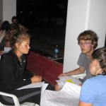 Joanna, Christian and Lea formed one of three discussion groups.