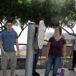Alberto and Abbie stand by another machine along the malecón - not sure what this one is for!