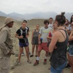...stopping to hear from our guide.