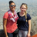 Asia and Kate at Cerro San Cristóbal overlooking the city of Lima.