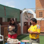 The owner of the workshop, Leonidas Orellana Castro, spoke about their work, with Jessica translating.
