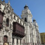The Archbishop's Palace adjoins the main cathedral in Lima's Central Plaza.