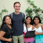 David with his host mother, Sara, and his host sisters, Zully and Galeth.