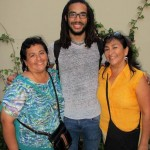 Josh with his host mother, Cecilia, and his host aunt, Ena.