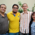 Michael with his host parents, Blanca and Pepe, and his host brother, Nicolas.