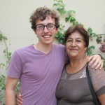 Phil with his host mother, Livia.
