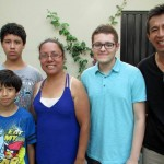 Alberto with his host parents, Eliana and Ricardo, and host brothers, Adriel and Mathias.
