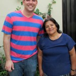 Zach with his host mother, Bita.