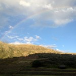 A rainbow appeared as we ended our day at Tipón.