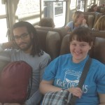 Josh and Becca on the train to Aguas Calientes, the day before our climb at Machu Picchu.