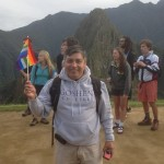 Willy with the flag from Cusco.