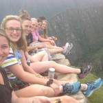 Claire, Anna, Irene, Kourtney, Abbie and Hayley on top of Huayna Picchu.