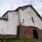 A side view of the church, built on top of an Incan temple.