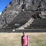 Alberto poses in front of the Ollantaytambo terraces.