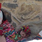 Passing women in traditional dress on our way to the colca climb.