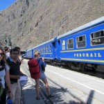 Waiting to board the train between Ollantaytambo and Aguas Calientes.