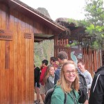 Anna and others prepare to climb Huayna Picchu.