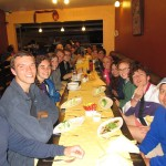 Supper at the end of our day at Machu Picchu.