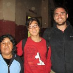 Zach, right, and James with their host mother in Lucre, Margarita.