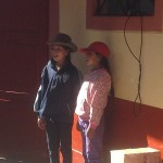 At the school, students welcomed the guests (us) with a series of songs - this one courtesy of Leydy and Soledad.