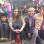 At the Casa Luz orphanage, Morgan and Kate hang out with some of the older children.