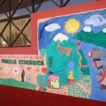 Murals painted by the children on the school walls.